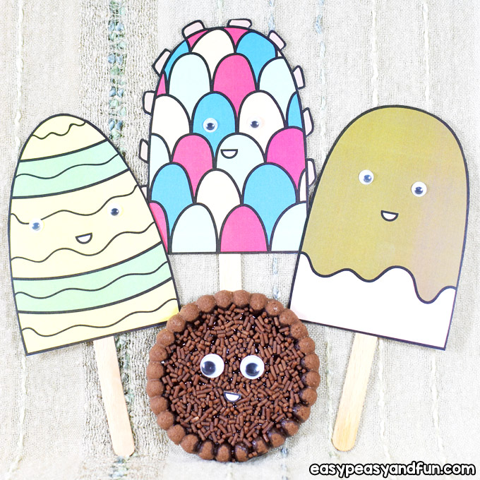 Paper Ice Cream Craft for Kids to Make