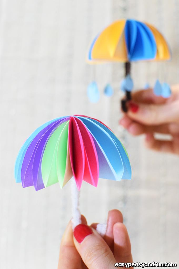 Paper Umbrellas Craft for Kids