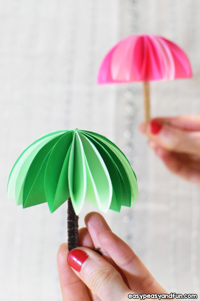 Paper Umbrellas Craft for Kids