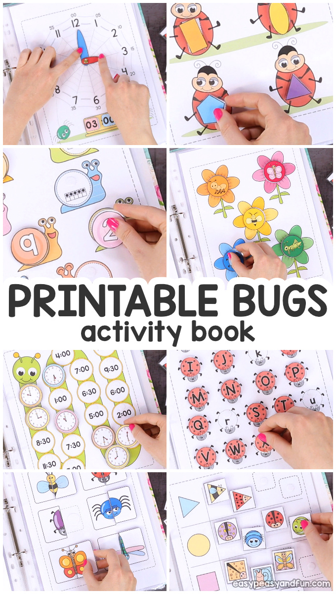 photo regarding Printable Book called Printable Insects Serene Reserve Game E book for Pre-K and K