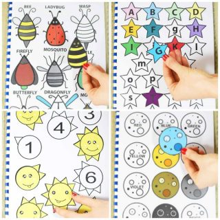 Printable Colorful Activity Book for Kids