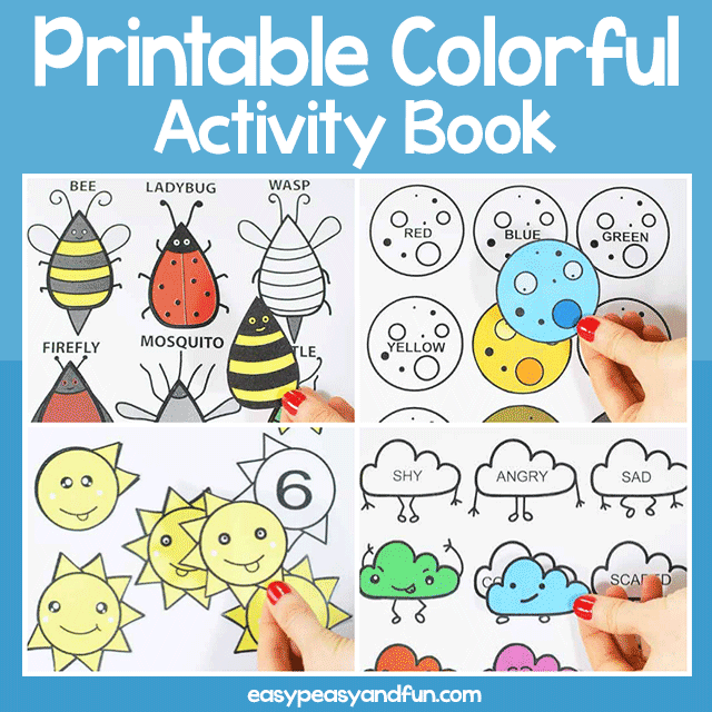 Printable Colorful Activity Book
