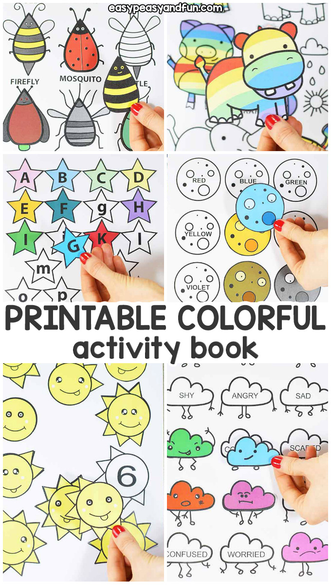 Printable Colorful Quiet Book - Fun Learning Activity Book for Kids