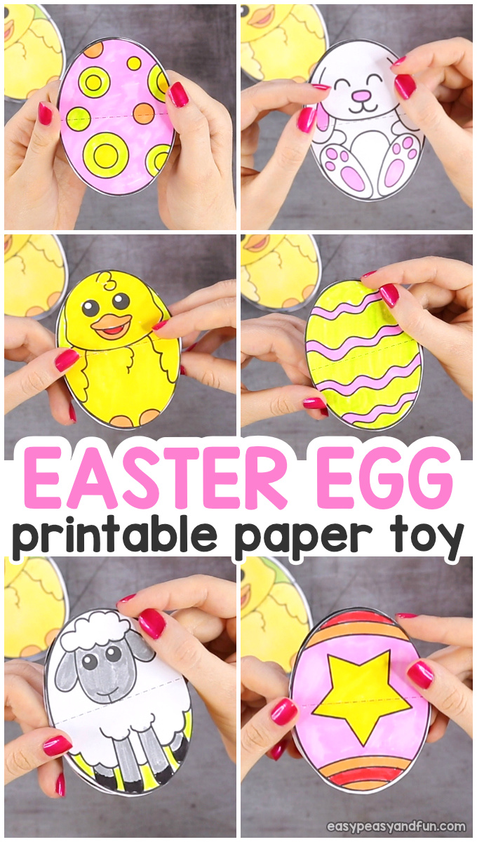 Printable Easter Egg Paper Toy for Kids