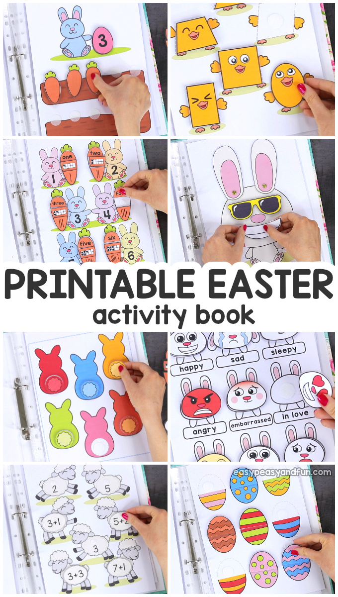 Printable Easter Quiet Book. Fun Easter Activity for Kids in PreK and K.
