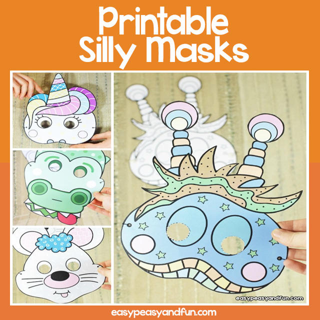 Printable Silly Masks