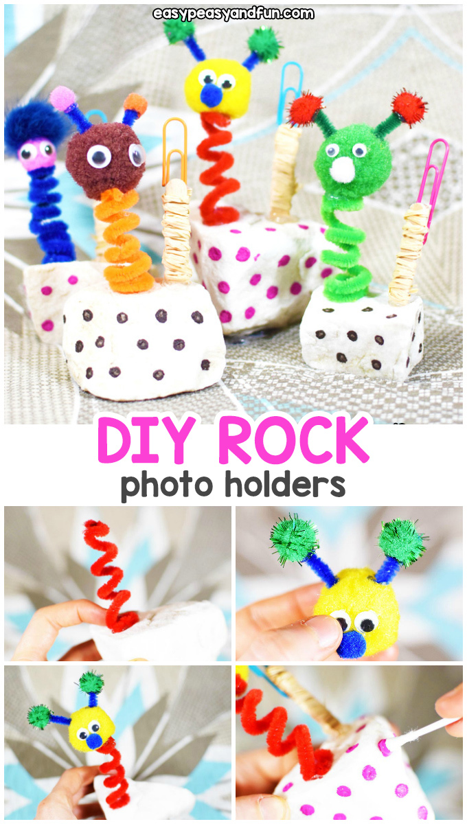 Puppet Wobbly Photo Holder - a fun diy photo holder kids can make