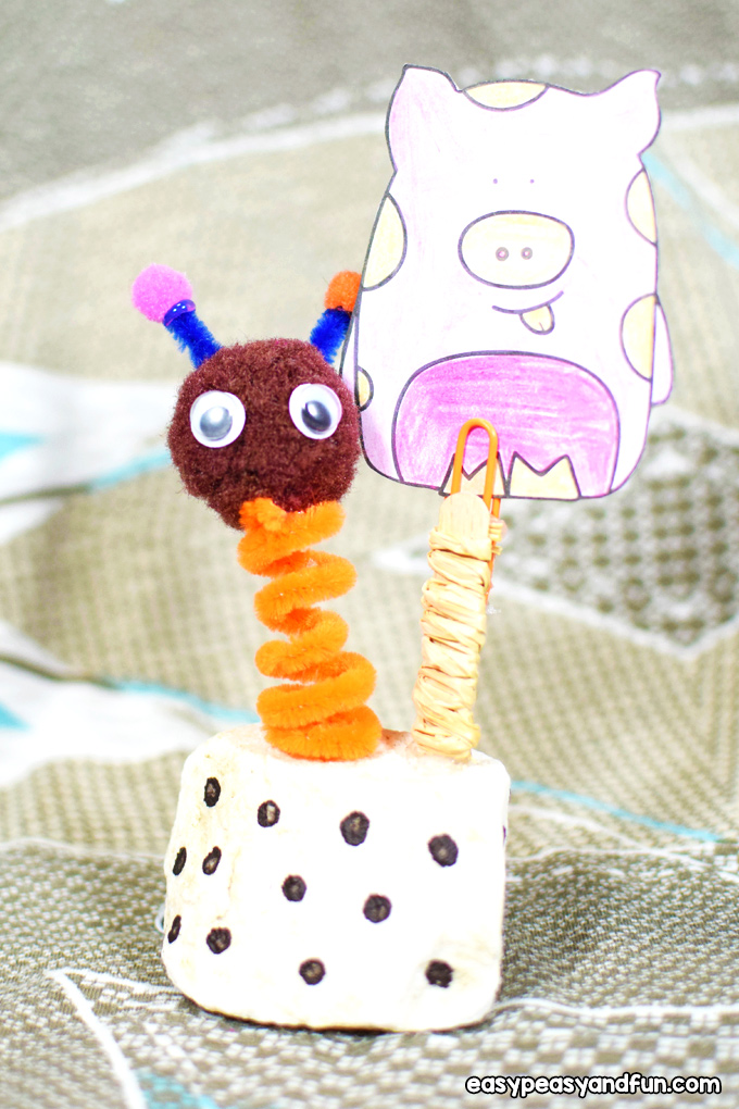 Puppet Wobbly Photo Holder Craft for Kids