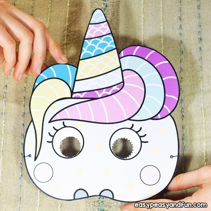 Silly Paper Masks Craft for Kids to Make