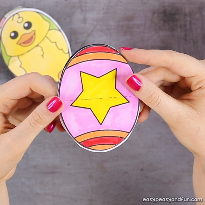 Star Easter Egg Paper Toy