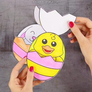 Surprise Easter Eggs Craft for Kids