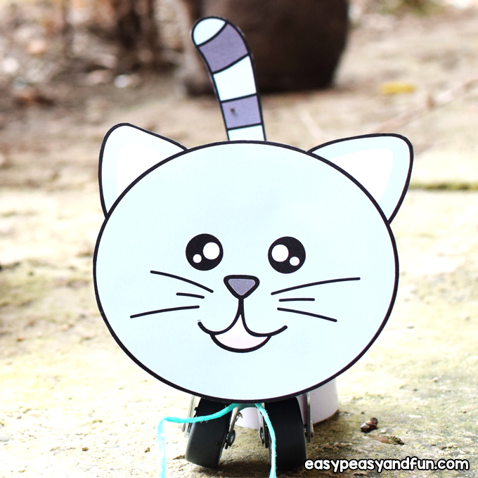 Tin Can Cat Craft for Kids to Make