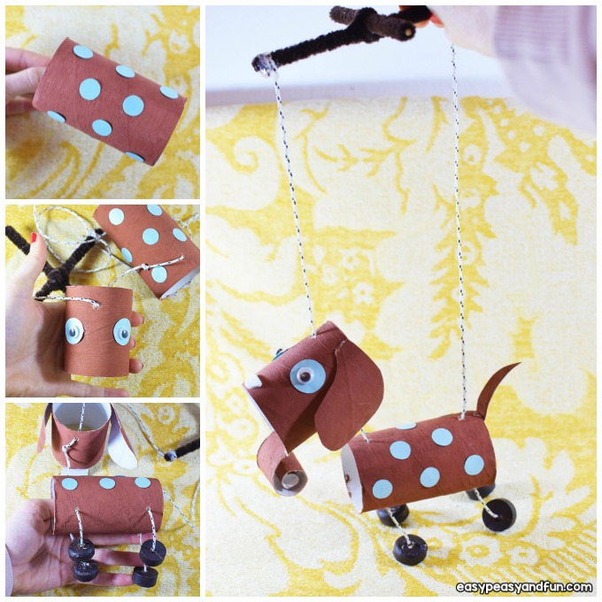 How to Make a Dog Marionette Craft Idea