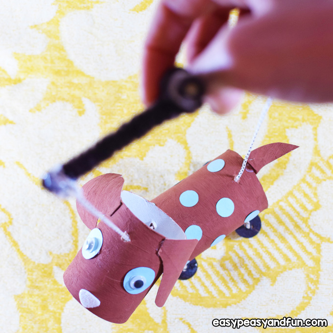 How to Make a Dog Marionette Craft for Kids