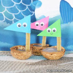 Walnut Boats for Kids