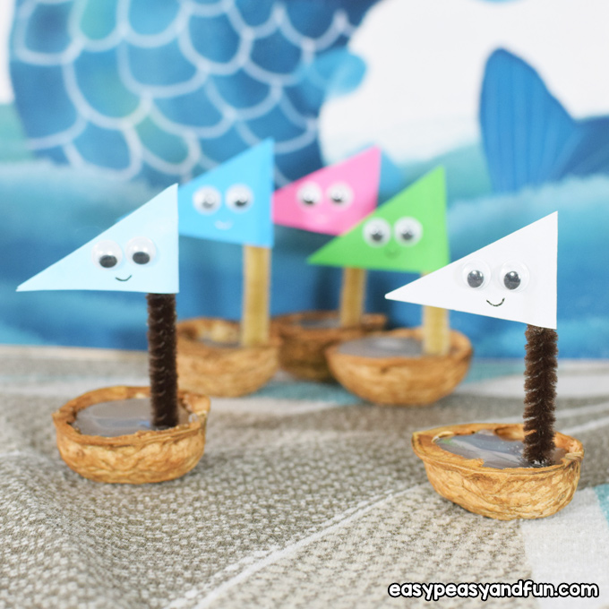 Walnut Boats for Kids
