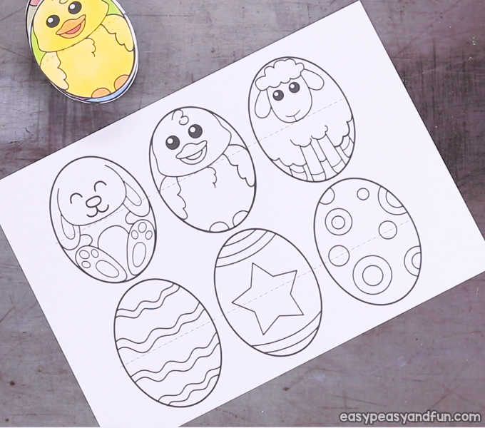 image regarding Printable Easter Egg identify Printable Easter Egg Paper Toy - Basic Peasy and Entertaining