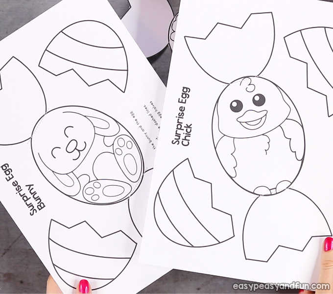 Surprise Easter Eggs Craft Easy Peasy And Funrheasypeasyandfun: Surprise Eggs Coloring Pages At Baymontmadison.com