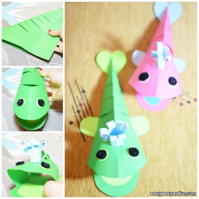 3D Paper Whale Craft Idea