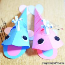 3D Paper Whale Craft
