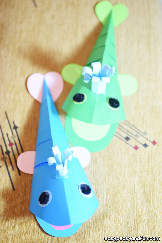 3D Paper Whale Craft for Kids to Make