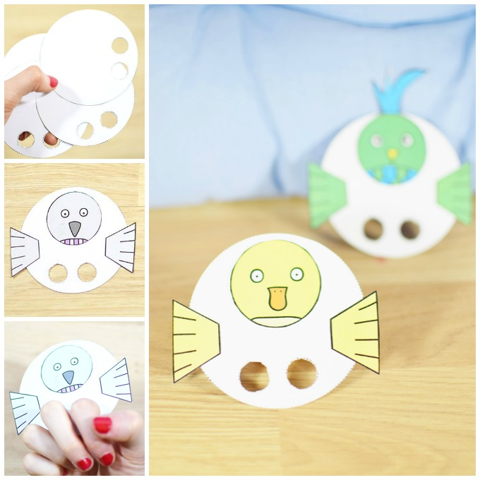 Bird Finger Puppets Craft Idea
