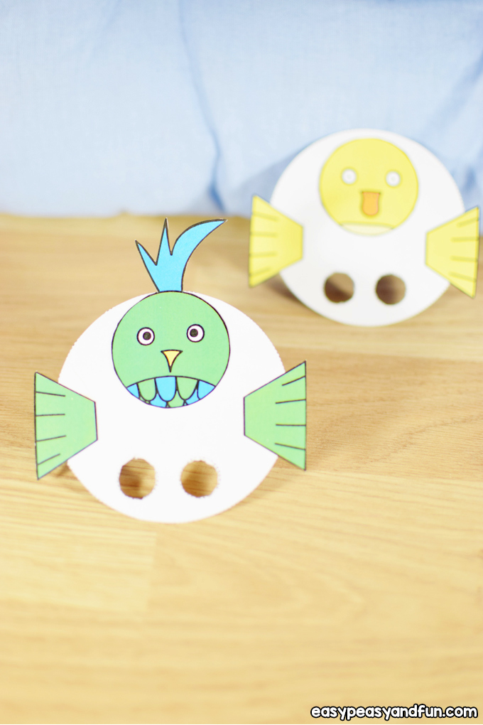 Bird Finger Puppets Craft for Kids
