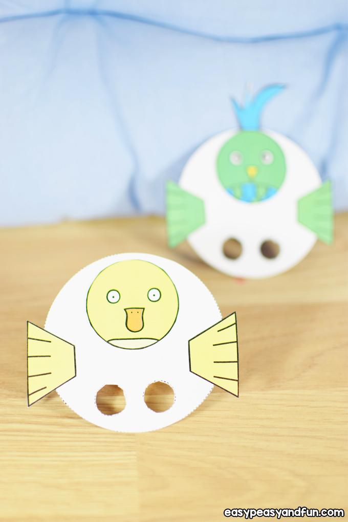 Bird Finger Puppets Craft for Kids