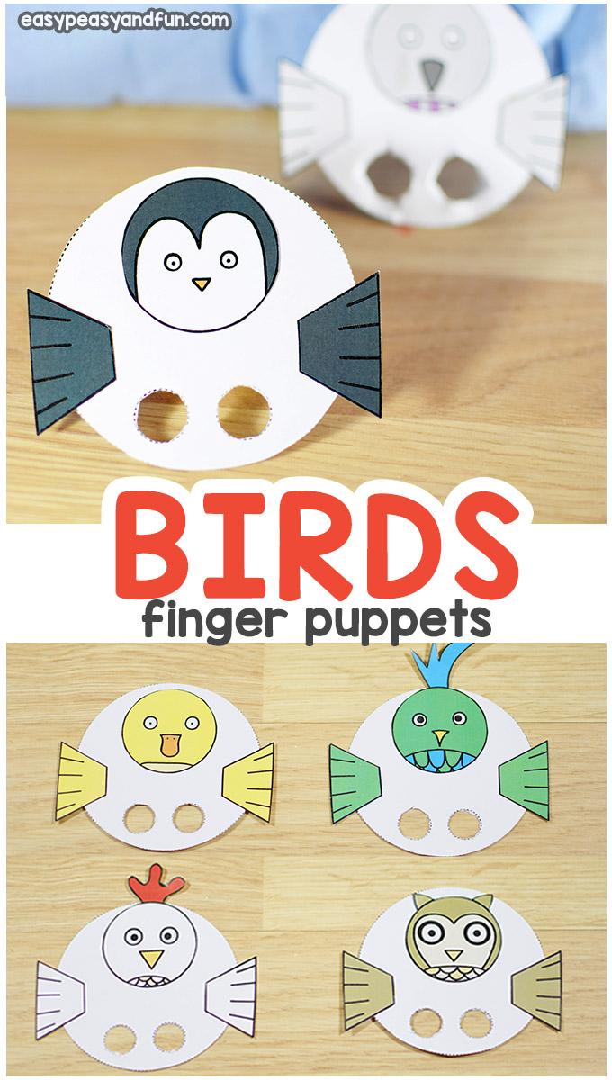 Birds Finger Puppets
