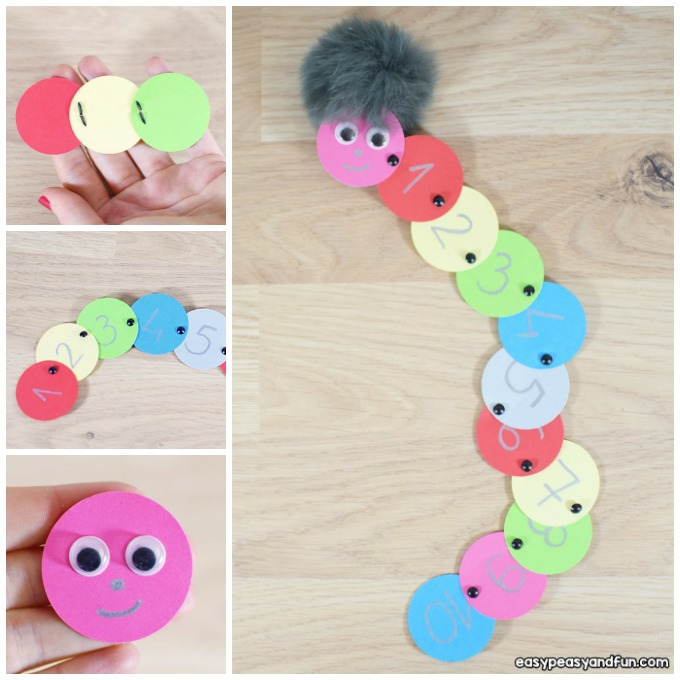 Caterpillar Counting Activity Idea