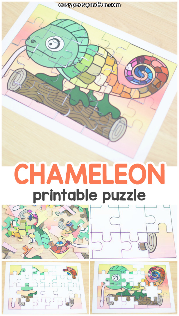 graphic regarding Chameleon Printable named Printable Chameleon Puzzle - Straightforward Peasy and Enjoyment