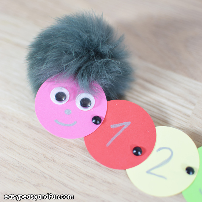 Counting Caterpillar Craft for Kids to Make