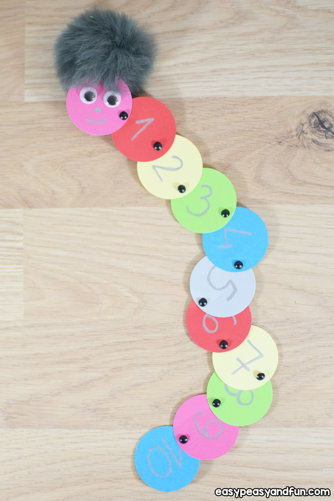 Counting Caterpillar Craft for Kids