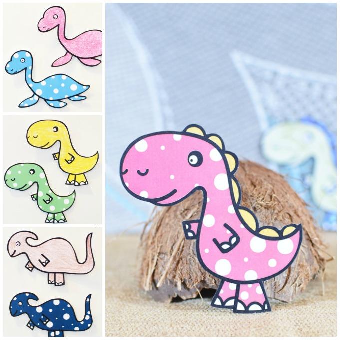 DIY Dinosaur Fridge Magnets Idea