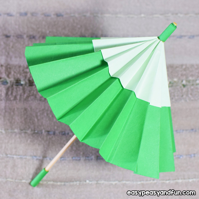 DIY Paper Umbrella Craft