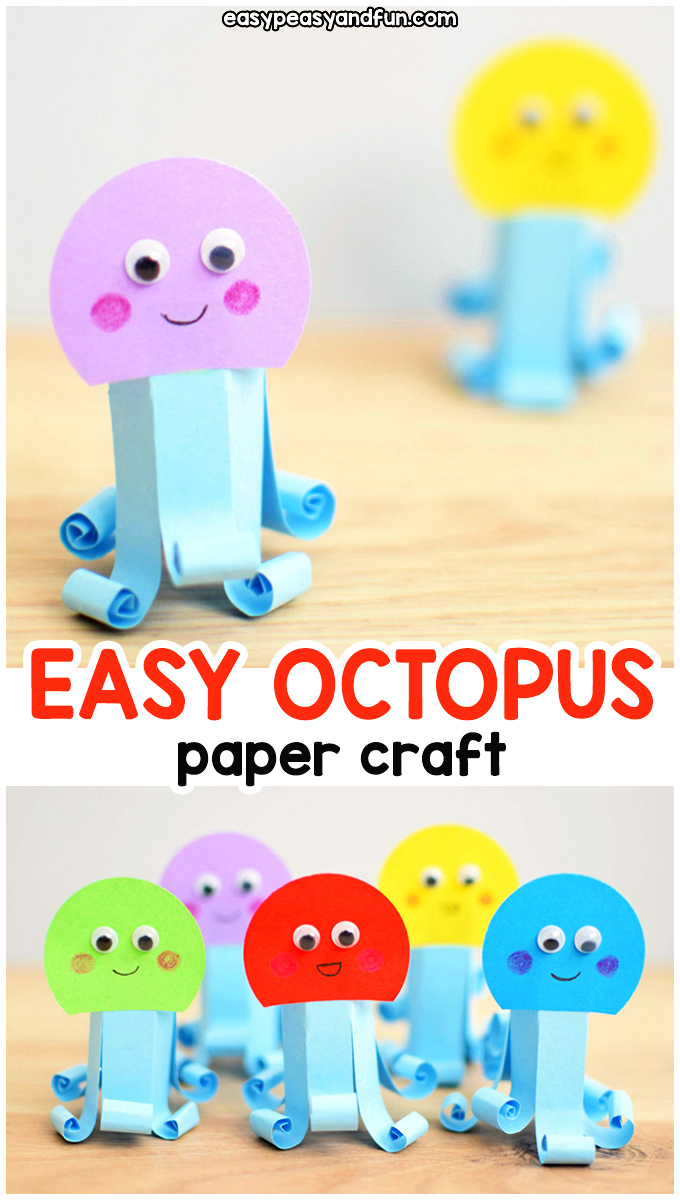 Easy Paper Octopus Craft for Kids