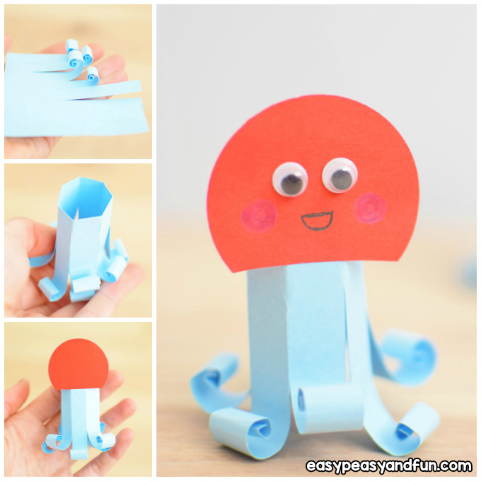 Easy Paper Octopus Craft Idea
