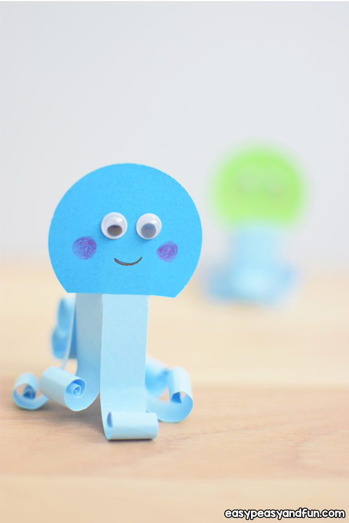 Easy Paper Octopus Craft for Kids to Make
