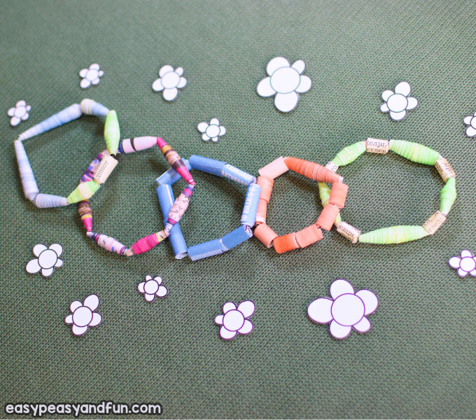 How to Make Paper Beads Paper Craft Idea for Kids