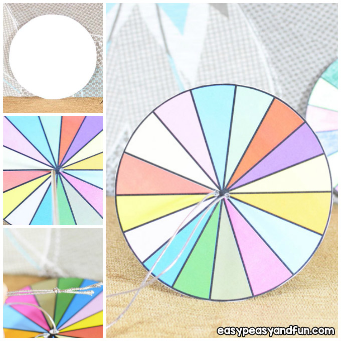 How to Make a Paper Spinner Craft Idea