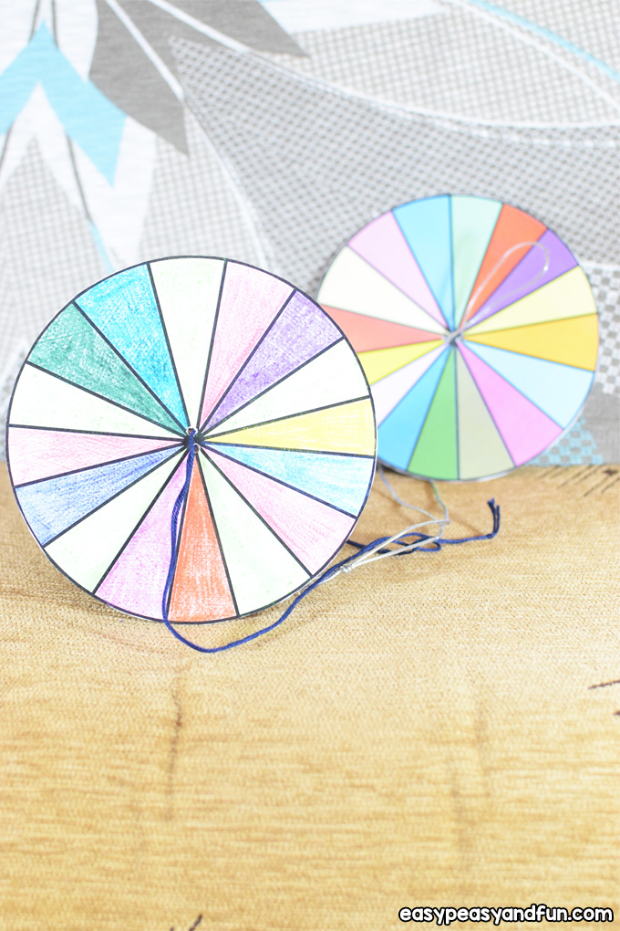 How to Make a Paper Spinner Craft for Kids