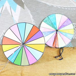 How to Make a Paper Spinner Craft for Kids to Make