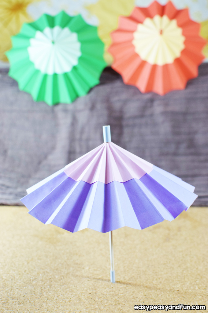 Make a Paper Umbrella Craft