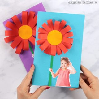 Paper Flower Mothers day Card