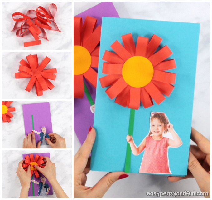 Paper Flower Mothers day Card Idea