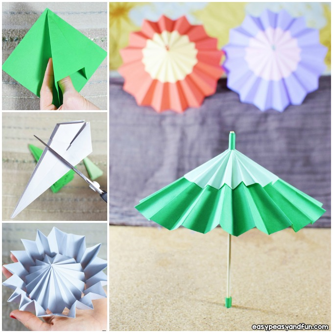 Paper Umbrella Craft Idea