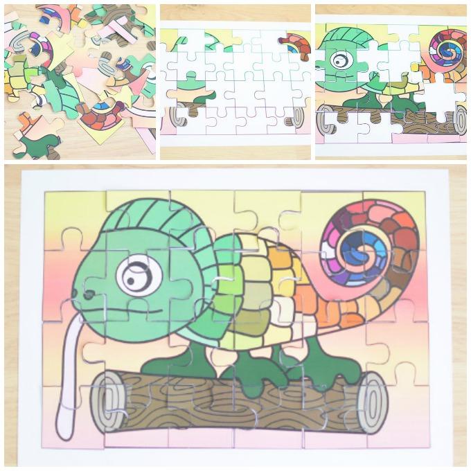Printable Chameleon Puzzle Idea