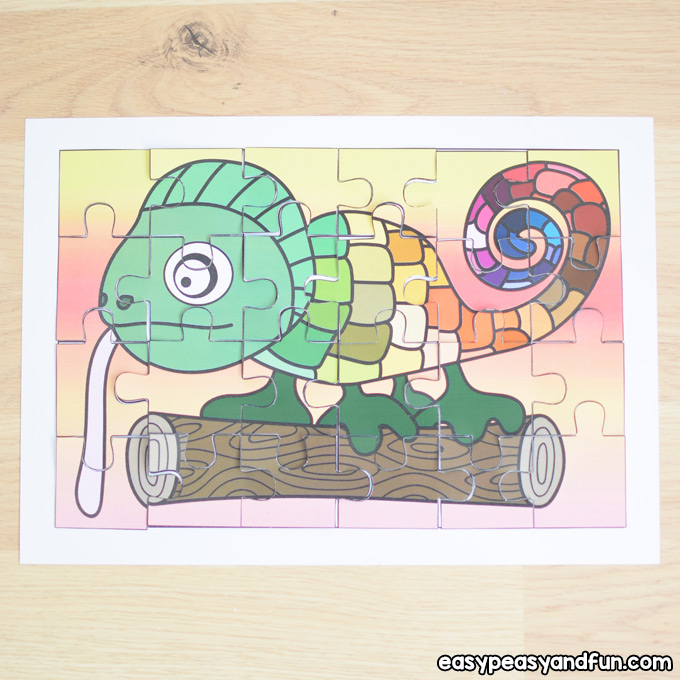 picture regarding Chameleon Printable identify Printable Chameleon Puzzle - Very simple Peasy and Exciting