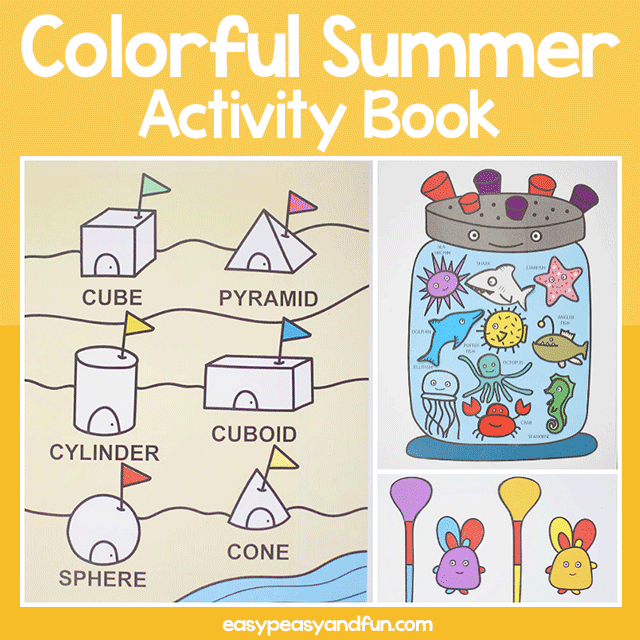 Printable Colorful Summer Activity Book