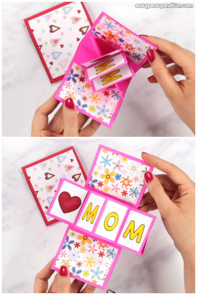 Twist and Pop Mothers Day Card Craft for Kids